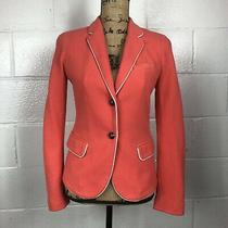 Gap the Academy Blazer Button Up Faux Pockets Coral Size 2 Photo