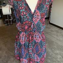 Gap Tie Shoulder Short Dress Black Print Small Gorgeous Photo