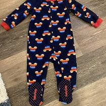 Gap Toddler Disney Fleece Mickey Zippered Footed Pajamas Size 2t Photo