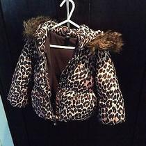 Gap Toddler Girls Down Filled Fur Hood Coat Size 3 Like New Photo