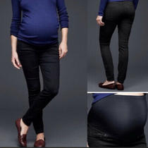 Gap True Skinny Maternity Black Jeans Sz 6 Photo