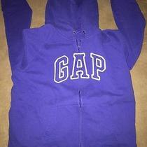 Gap Unisex Zip Up Hooded Sweatshirt Kids Size Xl Royal Blue Photo