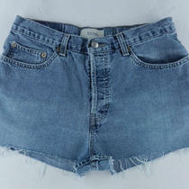 Gap Usa Loose Fit Cut Off 100% Cotton Denim Blue Jean Shorts Womens Sz 6 8 Kiqq Photo