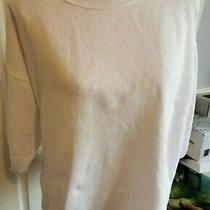 Gap White 3/4 Sleeve Cropped Sweatshirt Top Size Small Polyester Approx 12 Photo