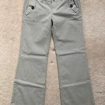 Gap White and Gray Striped Pant With Pockets - Size 2 Photo