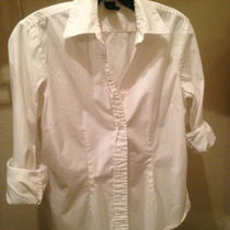 Gap White Button Down Shirt Size S Photo