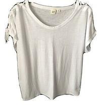 Gap White Lace Up Sleeve T Shirt Photo