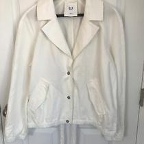 Gap White Linen / Cotton Jacket - Size Large Photo