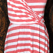 Gap White/red Herringbone Drape Sun Dress Blouson Sheath Tank Women Sz Xs 0 2 4 Photo