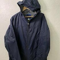 Gap Wind/rain Jacket With Hoodie Mens Size L Blue 25 Photo