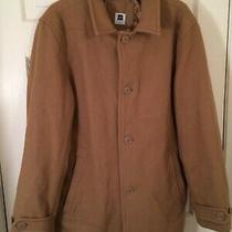 Gap Woman Beige/tan Wool Blend Winter Coat/jacket Size Med Wj-61 Photo
