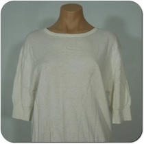 Gap Woman's White Sweater Top 3/4 Sleeves Size S (New) Photo