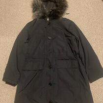 Gap Women  Black Parka Coat  With Hood Size S New With Tag  Photo
