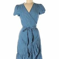 Gap Women Blue Casual Dress M Petites Photo