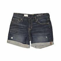 Gap Women Blue Denim Shorts 27w Photo