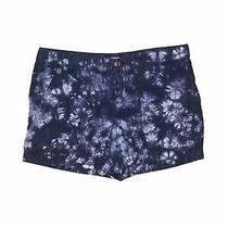 Gap Women Blue Khaki Shorts 8 Photo