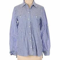 Gap Women Blue Long Sleeve Button-Down Shirt Xs Photo