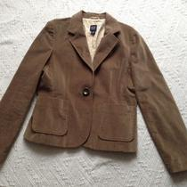 Gap Women Brown Cotton Velvet  Blazer Jacket Size 12 Pre-Owned Great for Spring Photo