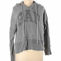 Gap Women Gray Pullover Hoodie L Photo