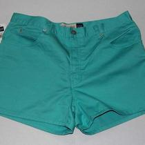 Gap Women's Aqua / Turquoise Jean Shorts  Size 14  Brand New / Unworn Jeans Photo