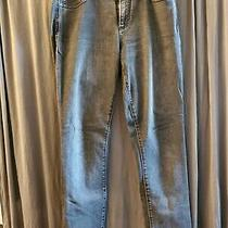 Gap Women's Authentic Straight Jeans Black Distressed Size 31 Long Photo