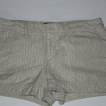 Gap Women's Beage Striped Casual Shorts Size 12 Photo