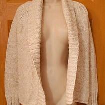 Gap Women's Beige Open Long Sleeved Knit Sweater Cardigan Size S Photo
