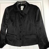 Gap Women's Black 5 Button Lined Blazer Jacket Tag Size 8 Photo