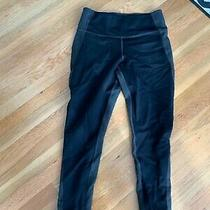 Gap Women's Black/ Grey Sculpt Ponte Ankle Zip Legging Pants Size Small Photo