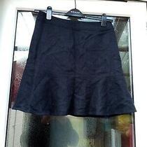 Gap Women's Black Lined Wool Blend Flare Skirt  Size 4 w28l18.5 Photo
