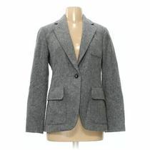 Gap Women's Blazer Size 4  Grey  Wool Nylon Polyester  Good Condition Photo