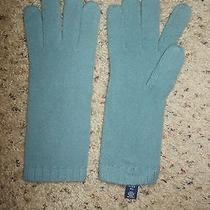 Gap Women's Blue Acrylic Gloves Mittens Size M / L  Photo
