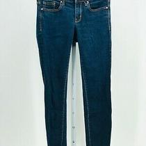 Gap Women's Blue Dark Wash Always Skinny Stretch Jeans Size 26 Inseam 27 Photo