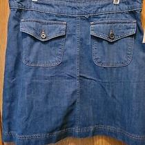 Gap Women's Blue Denim Jean Mini Skirt Size 16 Waist 36