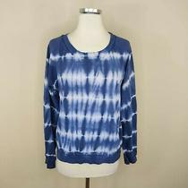 Gap Women's Blue Tie Dye Sweatshirt Crew Neck Long Sleeve M Medium Photo