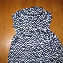 Gap Women's Blue White Geometric Strapless Maxi Sundress Size Small Photo