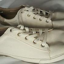Gap Women's Casual Canvas Sneakers White Gold Size 10 Photo