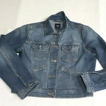 Gap Women's Crop Jean Denim Jacket Size M Blue Photo