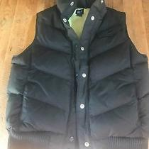 Gap Women's Down Filled Puffer Vest in Black Coat Jacket Medium Photo