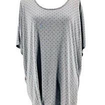 Gap Women's Gray Polka Dot Scoop Neck Short Sleeve Blouse Size Xl Photo