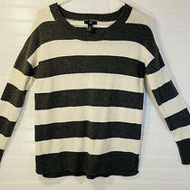 Gap Womens Gray & White Striped Sweater Size Xs Pre-Owned Photo