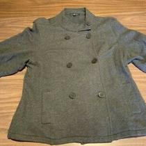 Gap Women's Grey Cotton Peacoat and Blazer Style Jacket Size Large Pre-Owned Photo