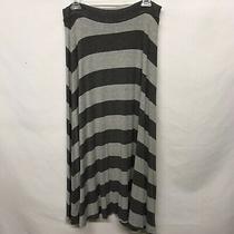 Gap Women's Grey Striped Maxi Long Skirt Size M Photo