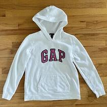 Gap Womens Hooded Sweatshirt With Pink Logo Size M Very Good Condition Photo