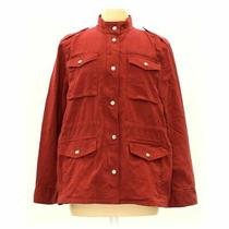 Gap Women's Jacket Size M  Orange Maroon  Cotton Elastane Photo