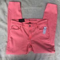 Gap  Womens Legging Skimmer  Jeans  Size 8/29  Neon Peach/pink Nwt Photo