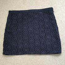 Gap Women's Lined Navy Crochet Skirt Size 8 Photo
