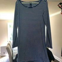 Gap Women's Maternity Blue White Stripe Dress Size New Zipper Back Photo
