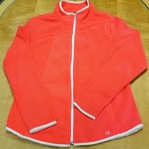 Gap Women's Neon Coral Full Zip Fleece Jacket Size Large Photo