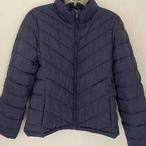 Gap Womens Puffer Jacket Navy Blue Size L Photo